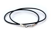 Bico 2mm Black Leather Necklace Long (CL8 Black) Tribal Street Jewellery
