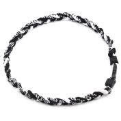 HuaYang 3 Rope 50cm Titanium Ionic Sports Necklace Baseball Softball Soccer Braided Twist