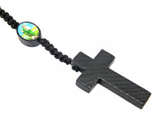 Beautiful Natural Wooden Bead Rosary Bead Beads Jesus Bracelet Or Necklace With Cross / Crucifix