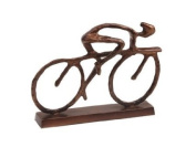 Cyclist Sculpture in Antique Bronze Finish