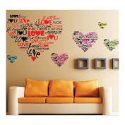 I Love You in Many Languages Removable Mural Vinyl Sticker Wall Art Decal WallPaper Wall stickers