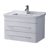Madrid 600mm, White Gloss, Wall Hung Bathroom Vanity Unit & Basin by John Louis Bathrooms