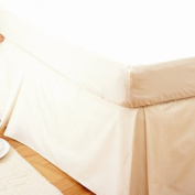 Easy Fit Valance Box Pleat Ivory Single Bed Size RRP £48