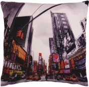 FUNKY NOVEL TIMES SQUARE NEW YORK AMERICAN RED BLACK CUSHION COVER 46cm