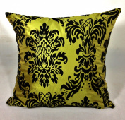 large flock damask cushion + covers in 8 beautiful colours