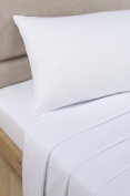 Bedding Heaven 0.6m Percale 180 Thread Count Fitted Sheet. WHITE. Ideal for Bunk Bed, Small Single and Caravan Bed.