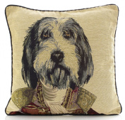 Major Dog Tapestry 46cm Cushion Cover Retro Vintage Print