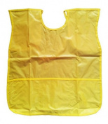 YELLOW Sleeveless Kids Fun Painting Paint Play Apron Wipe Clean Waterproof Protect Clothing - Ideal for use at Home & School Smock / Pinny