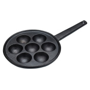 Kitchen Craft Cast Iron Seven Hole Aebleskiver Danish Pancake Pan