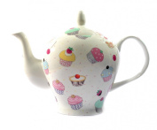 Bone China 470ml/ 2 CUP Teapot - CUPCAKE CHINTZ Kirsty Jayne China- Hand decorated in the Potteries, Staffordshire, England.