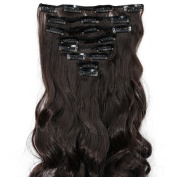 """Deluxe 17""""(43cm)/23""""(58cm) 8pcs Full Head Clip in Hair Extensions Best Xmas Gifts for Beautiful Lady Long All Colours"""