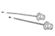 New korean style Charms Beauty Pearl Rhinestone Hair Clip Barrettes.