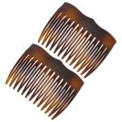 Ebuni | A pair of attractive tortoiseshell colour Side Hair Combs | Made in Fance