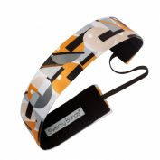 Sweaty Bands Fitness Headband - Mod Squad Gold/Grey 3.8cm Wide