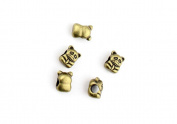 80 Pieces Jewellery Making Charms Pendant Ancient Bronze Colour Retro Findings Supplies GFYHBF0 Embarrassed Bear Loose Beads