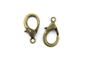 Price per 220 Pieces Jewellery Making Charms ZSTO0 Lobster Clasp Ancient Bronze Findings Craft Supplies Bulk Lots