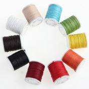Ecloud ShopUS® 10 Roll 0.9mm Mixed Waxed Cotton Jewellery Necklace Cord String 10m
