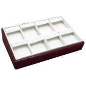 Rosewood Earring Display Tray Measures 23cm X 15cm X 5.1cm Tall.