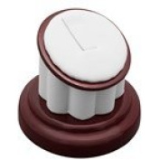 Rosewood Ring Stand Measures 5.1cm - 1.3cm X 5.1cm Tall.