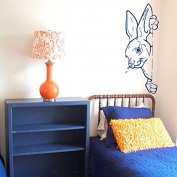 Wall Decals Animals Decal Hare Rabbit Hares Humour Fauna Girl Boy Bedroom Kids Nursery Children Baby Living Vinyl Sticker Home Decor ML119