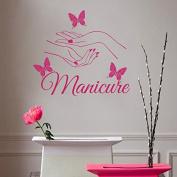 Wall Decals Beauty Salon Nail Art Manicure Vinyl Decal Interior Decor Sticker Hairdresser Hairstyle Barbers Hands Butterflies ML104
