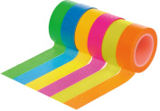 HIART Repositionable Washi Tape Bursting Neons Collection