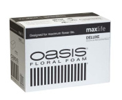 Oasis Deluxe Floral Foam Bricks - Case of 48 - Maxlife Floral Foam - Wet Floral Foam Bricks for Flower Arranging