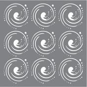 Andy Skinner Mixed Media Stencil 15cm x 15cm -Whirlpool