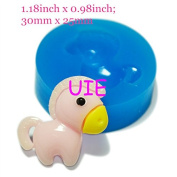 081LBD Cute Horse Silicone Push Mould Polymer Clay Charms Fondant Gumpaste Dollhouse Mini Resin Mould