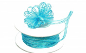 """3mm-1/8"""" Organza Pull Bow Ribbon Turquoise 50yd"""