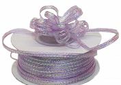 """3mm-1/8"""" Organza Pull Bow Ribbon Lavender 50yd"""