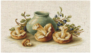 Luca-S Counted Cross Stitch Kit - Still Life with Mushrooms