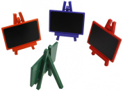 Kel-Toy Mini Chalkboard 4 Assorted Colour Easels, 7.1cm by 8.6cm