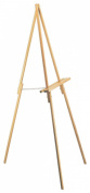 Tripod Floor Easel for Painting and Art, Folding, Solid Wood