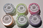 6 Colour Set Glow in the Dark Daytime Visible Pigment Powder 10g