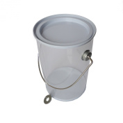 Hampton Art Wrap it Up Plastic Paint Can with Tin Lid, Small, White