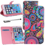For iPhone 6 (12cm ), Urvoix(TM) PU Leather Flip Wallet Jellyfish Case Cover w/ Magnetic Closure, Card Slots, Cash Holder