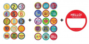 Belly Banter BOY + MILESTONE Growth & Milestone Sticker sets = 31 stickers!