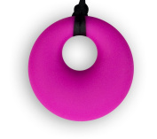 Chewable Silicone Round Pendant (Autism/sensory/teething/SPD) Nontoxic - BPA and Phthalate Free
