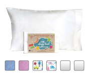 Toddler Pillowcase - Made for Little Sleepy Head Toddler Pillow 13 X 18 - 100% Cotton - Naturally Hypoallergenic - Made in USA!