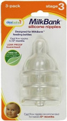 MilkBank Silicone Nipples 3 Pack - Stage 3