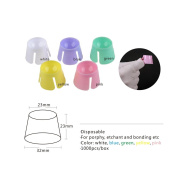 Easyinsmile Plastic dappen dish 100 PCS/BOX multi-purpose for dental,nails,acrylic,tattoo