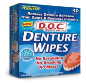 D.O.C. Denture Wipes 40 ea by MAJESTIC DRUG CO