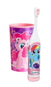 """Arm & Hammer Kid's Spinbrush """"My Little Pony"""" Turbo Powered Toothbrush Plus Bonus My Little Pony Pink Mouth Wash Rinse Cup!"""