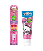 Hello Kitty Light up Toothbrush and Timer with Crest Hello Kitty Bubble Gum Flavoured Toothpaste