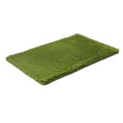 Bath Rugs Microfiber Green Pattern 60cm x 41cm