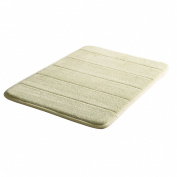 Bath Rugs Green Stripe Pattern 60cm x 41cm