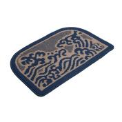 Microfiber Bath Rugs Blue Pattern 80cm x 50cm