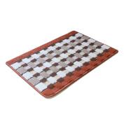 Antislip Bath Rugs Grid Pattern 60cm x 41cm