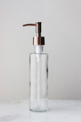 Long & Lean Recycled Glass Soap Dispenser with Metal Pump